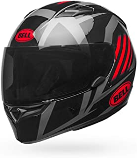 Capacete Bell Qualifier Blaze Gloss Black Red Titanium 56