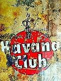 Rose Flight Havana Club Poster Metall Blechschilder Retro