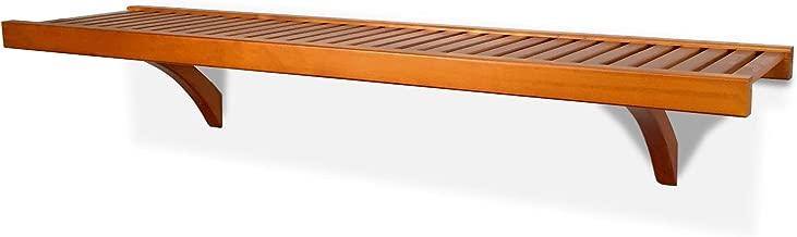 John Louis Home 12in. Deep Woodcrest 4ft. Shelf Kit - Caramel Finish