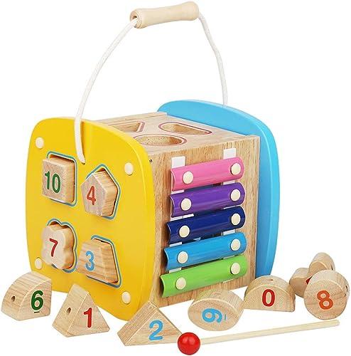 centro comercial de moda Instrumentos Musicales Niños Juguete Juguete Juguete Caja de Inteligencia Digital de Madera Multifuncional para Bloques de construcción de Madera Maciza para Niños Que combina  mejor precio