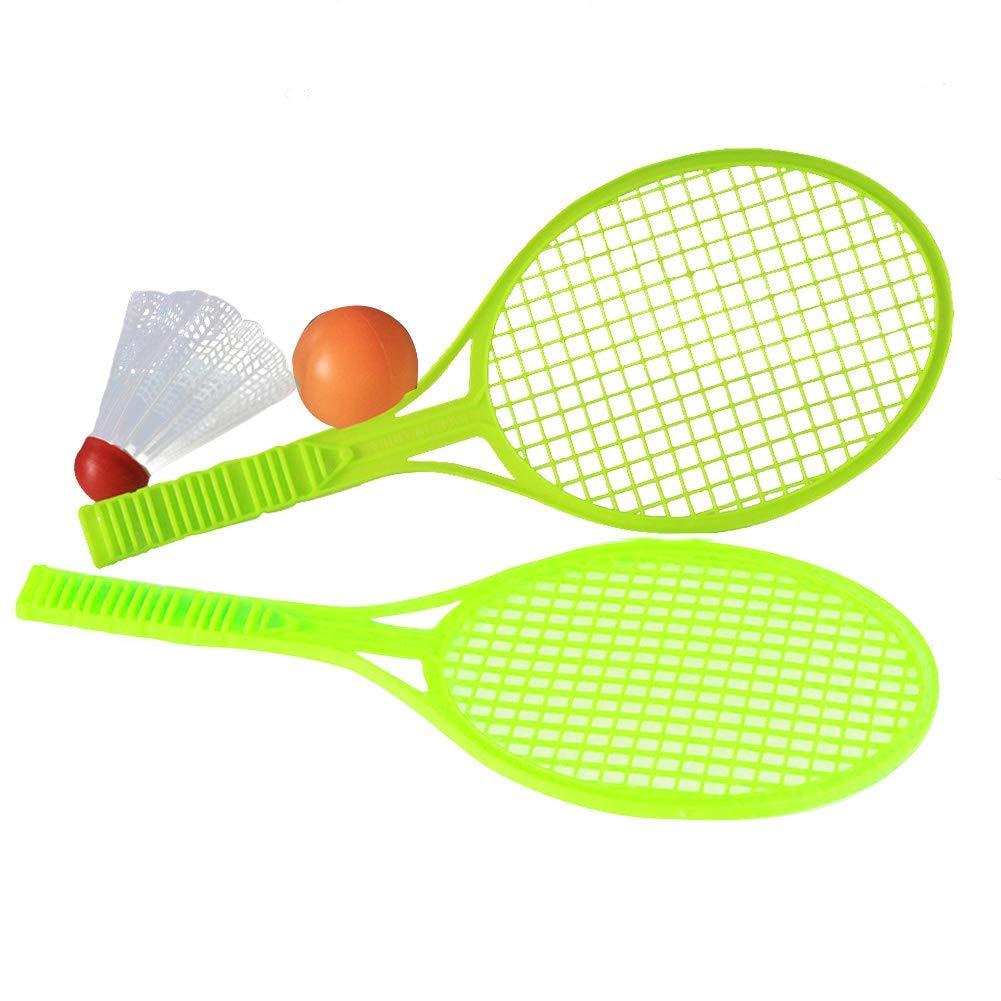 Ball and Birdie for Indoor Outdoor Sports Children Training Badminton Racket Ball,2 Players Practice Racket Racquet,Durable Badminton Set with 2 Rackets Vobor Badminton Set for Kids