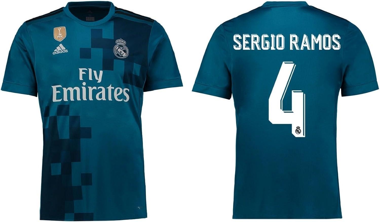 Trikot Herren Real Madrid 2017-2018 Third WC - Sergio Ramos 4 B0748ZVVRC  Extreme Geschwindigkeitslogistik