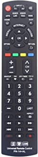 Gvirtue Universal Remote Control Compatible Replacement for Panasonic TV/ VIERA Link/ HDTV/ 3D/ LCD/ LED, N2QAYB000485 N2QAYB000100 N2QAYB000221 N2QAYB00048