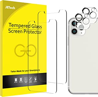 JETech Screen Protector and Camera Lens Protector Compatible with iPhone 11 Pro Max 6.5-Inch, Tempered Glass Film, 2-Pack ...