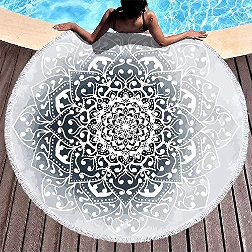 Duanrest licht ronde wandtapijt handdoek deken kwasten winter Vibes Mandala patroon wikkelrok camping picknick tapijt