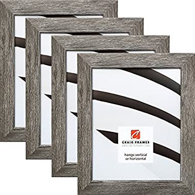 Craig Frames 26030 8 x 10 Inch Picture Frame, Gray Barnwood, Set of 4