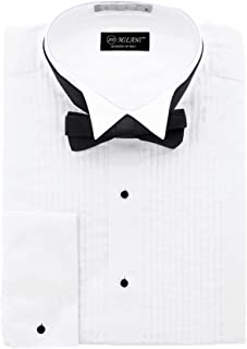 Men's Tuxedo Shirt with French Cuffs and Bow Tie