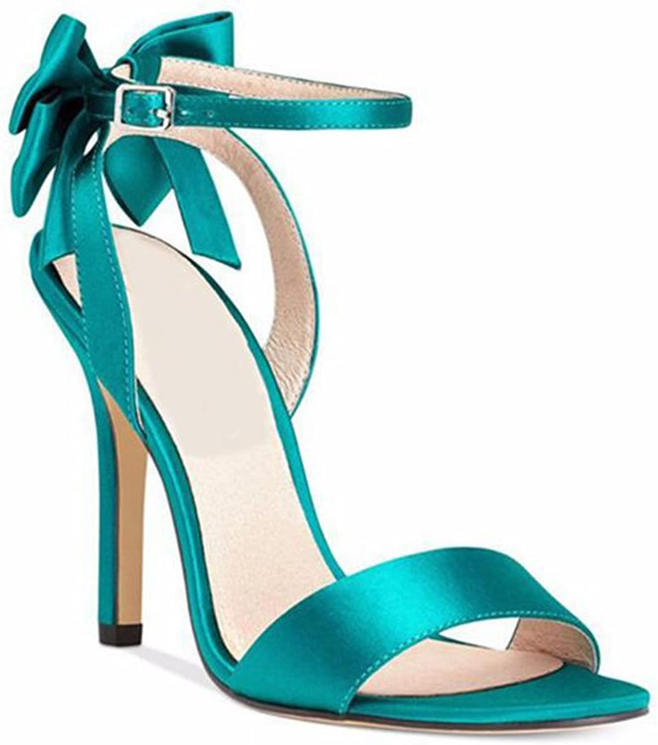 Women's shoes Solid color High Heels New Ladies Sandals Exposed with Open Toe Satin Fine with Bow