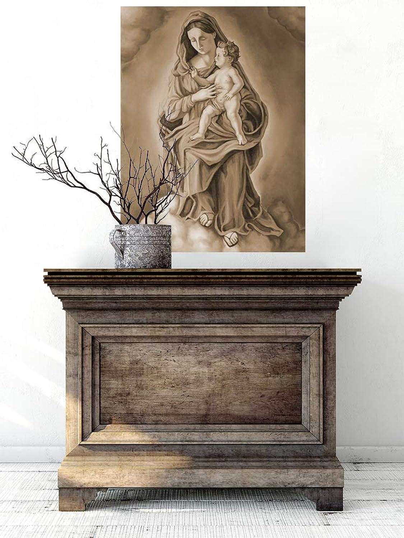 Selbstklebende Selbstklebende Selbstklebende Fototapete - Maria mit dem Kinde - sephia - Sepia - 150x200 cm - Wandtapete – Poster – Dekoration – Wandbild – Wandposter - Bild – Wandbilder - Wanddeko B07NZWPC8Z f5dbc7