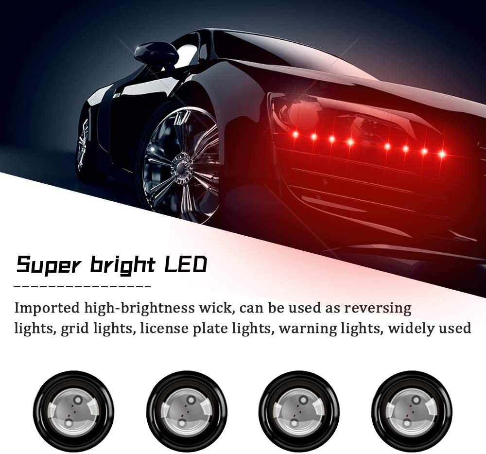 Sidaqi New Bright 4IN1 LED Eagle Eye Strobe Lights With Wireless Remote Control Fit For Car Motorcycle Warning Flashing Light DRL Daytime Running Backup Light Waterproof 12V-Red/&Blue