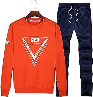 Men's Athletic Running Tracksuit Set Casual Full Zip Jogging Sweat Suit