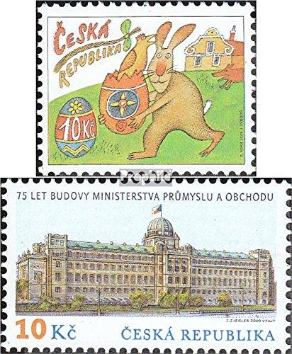 république tchèque mer.-no.: 589,593 (complète.Edition.) 2009 pâques, ministère (Timbres pour Les collectionneurs) Christianisme