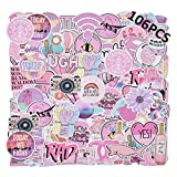 Autocollant Rose 106-PCS Graffiti Fille Stickers Vinyle Enfants Autocollants Série Fille Rose pour Voiture Tuning Moto Ps4 Iphone Scrapbooking Ordinateur Valise Bumper Bomb Sticker