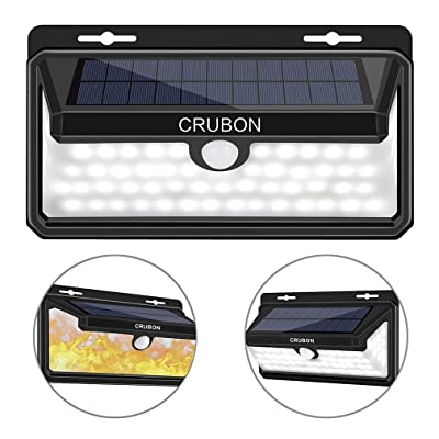 CRUBON Solar Lights Outdoor Waterproof Wireless...