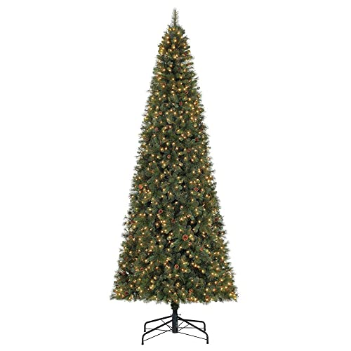 Home Heritage Albany 12-Foot LED Artificial Christmas Tree with Pine Cones - 12ft Christmas Tree: Amazon.com
