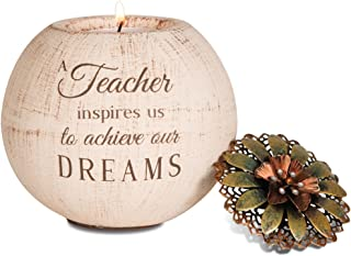 Pavilion Gift Company 19004 Light Your Way Terra Cotta Candle Holder, Teacher, 4-Inch