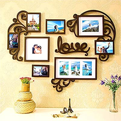 Picture Frames Set on Wall Home Decoration