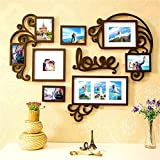 F&A=R Picture Frame Set of Love Heart on Wall Art Decoration Sticker in Family Living Room and Bedroom