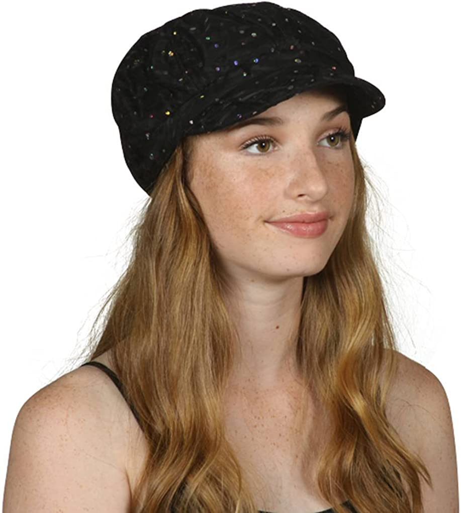 TOP HEADWEAR TopHeadwear Limited time cheap sale Glitter Hat Trim Sequin Clearance SALE Limited time Newsboy