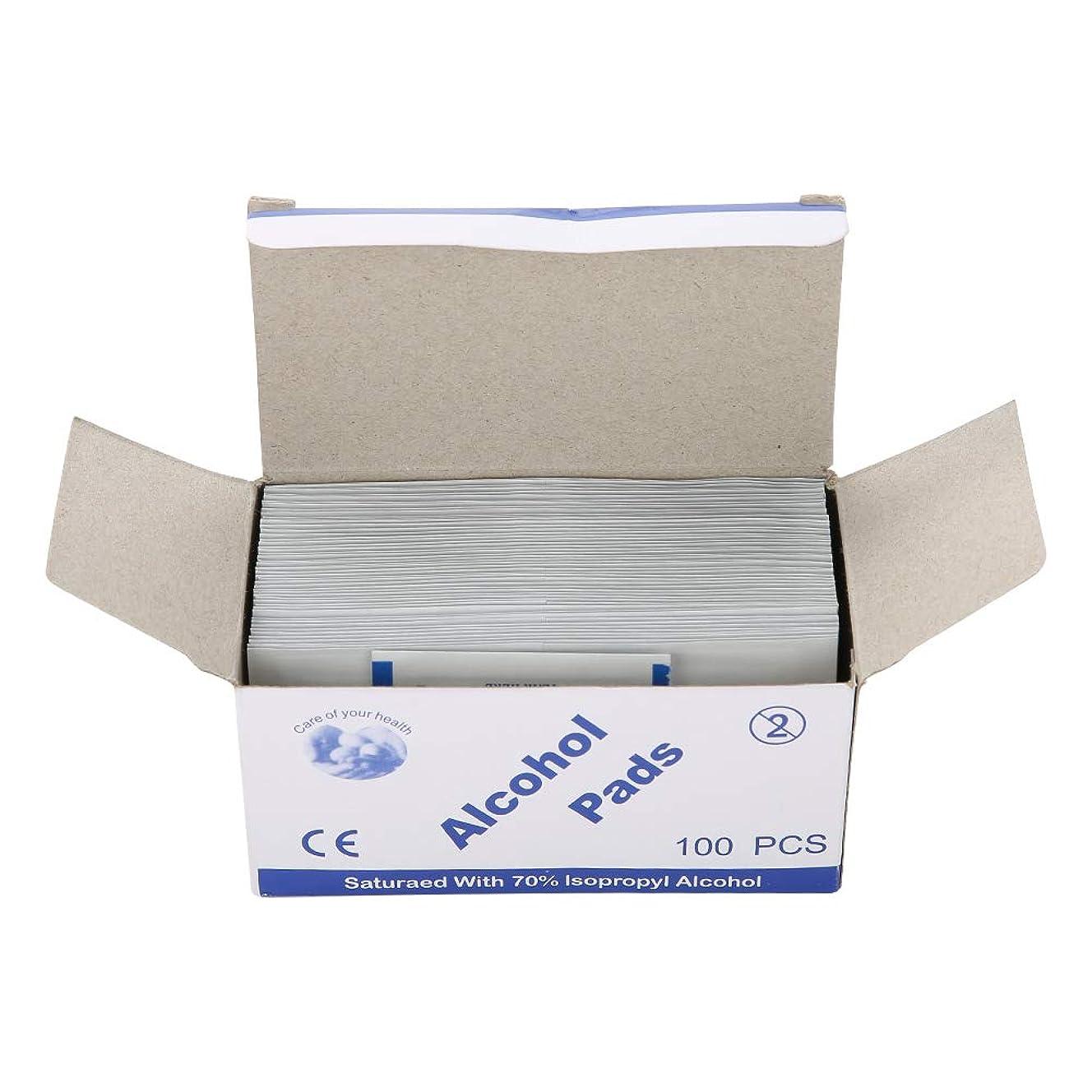 安心皿ブロックする100個/箱使い捨てアルコール綿パッド (UnitCount : 2 box)