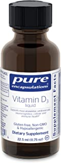 Pure Encapsulations - Vitamin D3 Liquid - Hypoallergenic Support for Bone, Breast, Prostate, Cardiovascular...