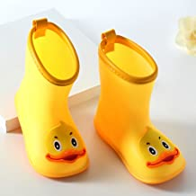 Children's Duck Shoes PVC Rubber Kids Baby Cartoon Shoes Children's Water Shoes Waterproof Rain Boots