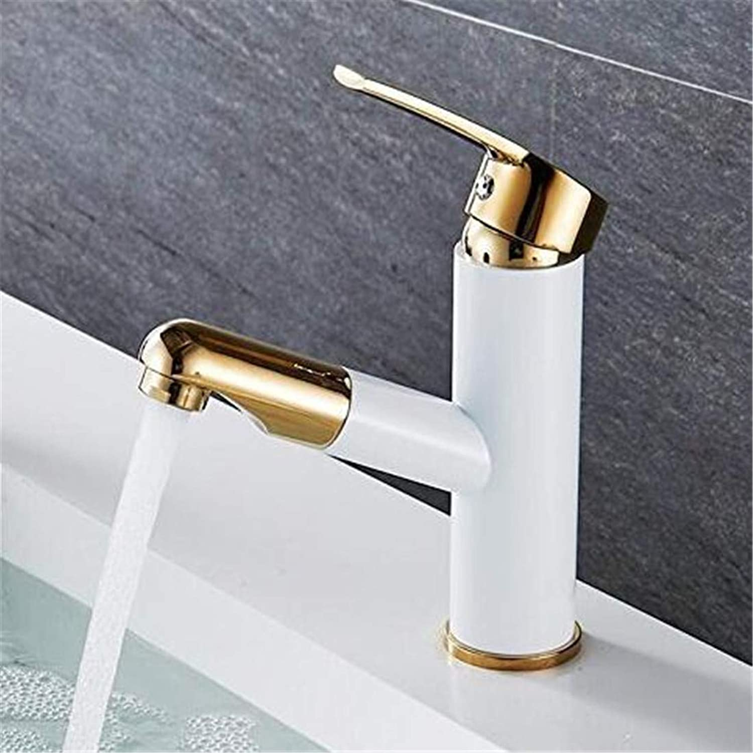 Chrome Kitchen Sink Tapgold Bathroom Faucets Pull Out Brass Basin Mixer Faucet Cold and Hot Bathroom Taps