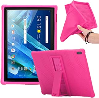 Lenovo tab 4 10 Kids Case, [Kids Friendly] Light Weight [Anti Slip] Shockproof Protective Cover for Lenovo Tab 4 10 Plus TB-X704F/N Android Tablet (Rose)