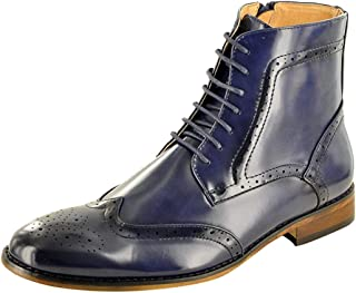 My Perfect Pair Bottines chukka Chelsea pour homme en cuir doublé style italien