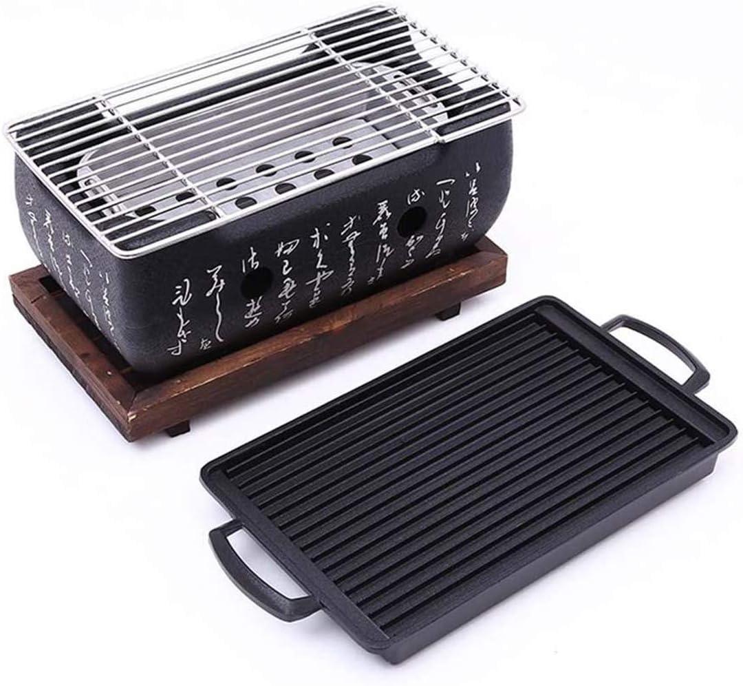 Portable indoor en outdoor houtskoolgrill,Black Black