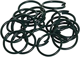 Omenluck 150 Pieces Flowers Vegetables Plants Plastic Coated Plant Support Rings Twisty Garden Plant Rings