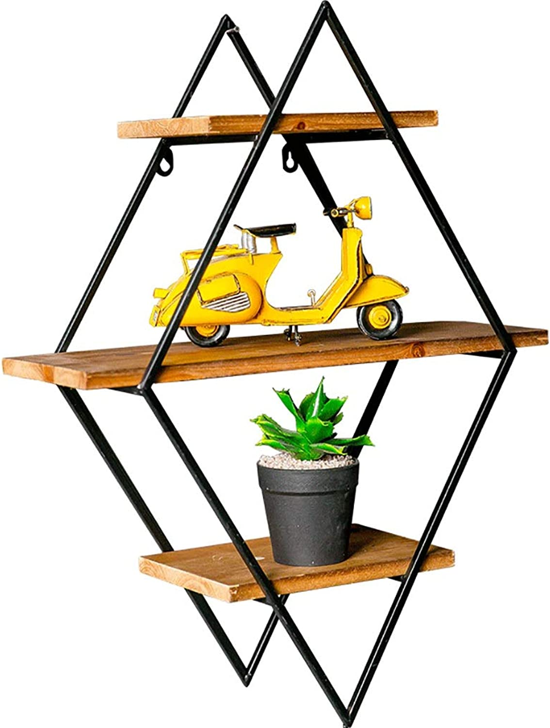 Iron Wall partition Shelf Wall Hanging Room Living Room bar Wall Decoration Wall Storage Shelf (Size   48  16  64cm)