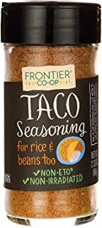 Frontier Taco Seasoning, Salt-Free Blend, 2.33-Ounce Bottles