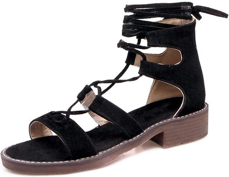 Gladiator Flats Sandals Summer shoes Women Cross Strap Flats Sandals Beach Holiday Footwears