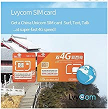 China SIM Card 1GB 4G LTE Data + 50 mins Local Calls or 100 Local Texts,! Free Incoming Calls and Texts