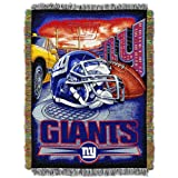 NORTHWEST NFL New York Giants Woven Tapestry Throw Blanket, 48' x 60', Home Field Advantage