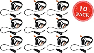 Avid AE-55 Headphone with Microphone and 3.5mm TRRS Plug Black-Orange (10-Pack)