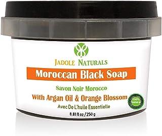 Jadole Naturals Moroccan Black Soap With Orange Blossom Essential Oil, Beldi Soap,250 g