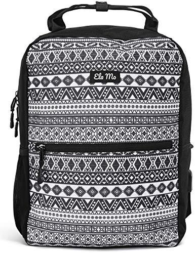 Ela Mo's Kleiner Rucksack Damen | Schön, Komfortabel und Durchdacht | für Arbeit Reisen Uni Schule | mit Laptopfach & Anti Diebstahl Tasche | Aztec