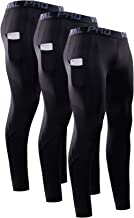 Vogyal Men's Compression Pants with Pockets, Workout Leggings Baselayer Dri Fit Running Tights