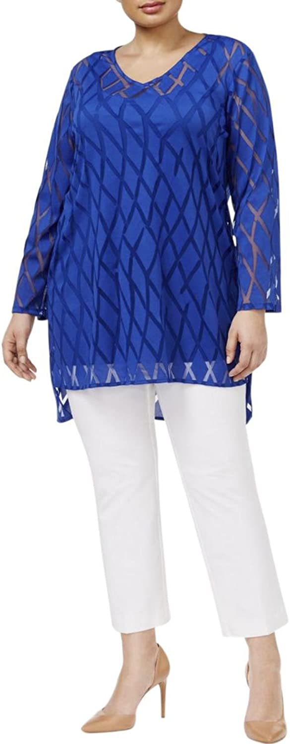 Alfani Plus Size Illusion Tunic Top