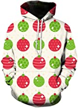 aihihe Men Ugly Christmas Pullover Sweatshirts Sweater Big and Tall 3D Digital Printed Graphic Long Sleeve Shirts