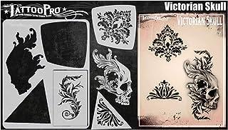 Tattoo Pro-stencils - Victoriaanse schedel, Mylar Airbrush-tatoeagesjabloon, herbruikbare schminksjabloon