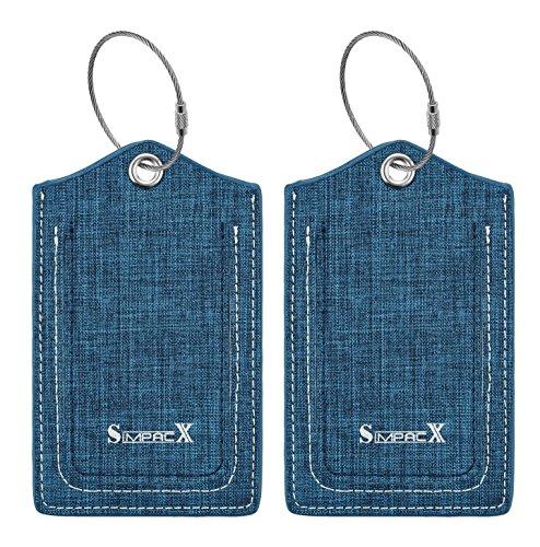 SimpacX Fabric Passport Holder Wallet Cover Case RFID Blocking Travel Wallet...