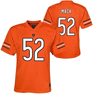 Outerstuff Khalil Mack Chicago Bears NFL Youth 8-20 Orange Alternate Mid-Tier Jersey