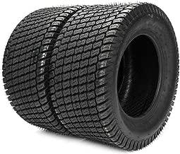 TRIBLE SIX 2pcs 20x10-8 Lawn Mower Cart Turf Tires 20x10.00-8 4 Ply 20/10-8,4PR Tubeless Lawn Mower Cart Turf Tires