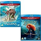 Moana (3D + 2D) - Brave (3D + 2D) - 2 Movie Bundling Blu-ray