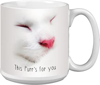 Cute Cat Extra Large Mug, 20-Ounce Jumbo Ceramic Coffee Mug Cup, This Purr Themed Pet Lover Art - Gift for Kitten Lover (XM63174) Tree-Free Greetings