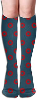Fishman Donuts - One Inch -Spaced Compression Socks Adult Knee High Sock Gym Outdoor Socks 50cm 19.7inch