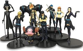 EASTVAPS 9psc One Piece Figurine Jouet Luffy Roronoa Zoro Brook Enfants Cadeau Décoration